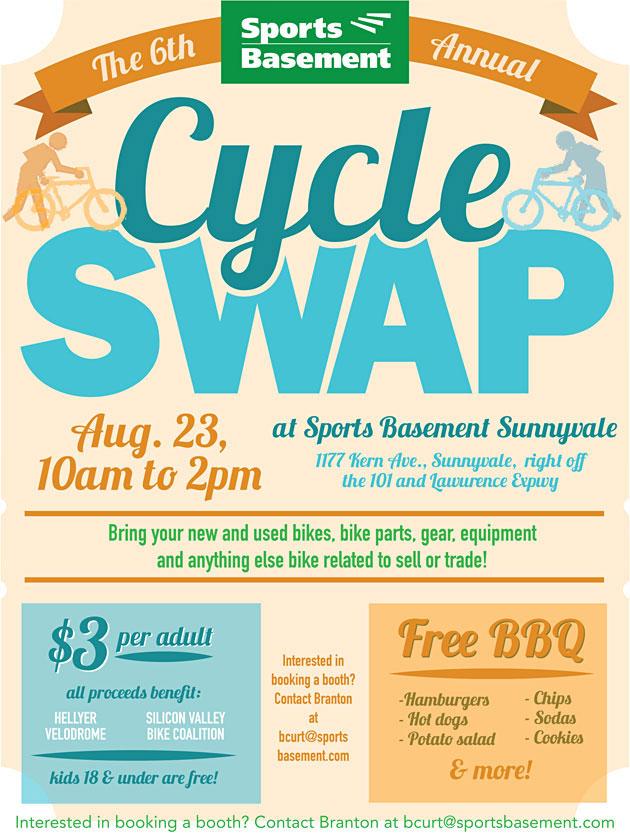 sports basement sunnyvale 39 s cycle swap is backfor a 6th edition